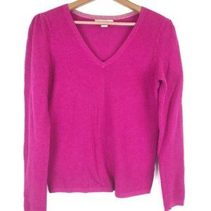 Banana Republic Pink V-Neck Knit Sweater Top